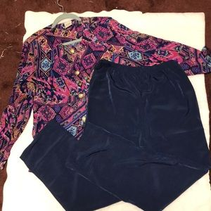 NWOT Two piece pant set.